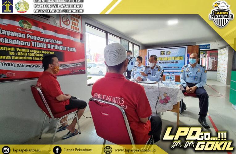 Pantau Jalannya Program Rehabilitasi, Kanwil Kemenkumham Riau Adakan Monev
